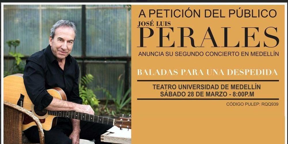 Jose Luis Perales En Un Segundo Concierto En Medellín